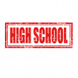 High School-stamp — Stock Vector
