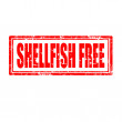 Shellfish Free-stamp — Stock Vector