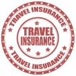 Travel Insurance-stamp — Stock Vector