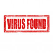 Virus Found-stamp — Stock Vector