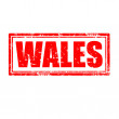 Wales-stamp — Stock Vector