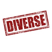 Diverse-stamp — Stock Vector