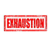 Exhaustion-stamp — Stock Vector