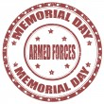 Memorial Day-stamp — Stock Vector