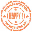 Thanksgiving Day-stamp — Stock Vector