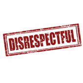 Disrespectful-stamp — Stock Vector