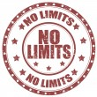 No Limits-stamp — Stock Vector