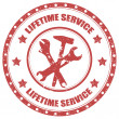 Stock Vector: Lifetime Service-stamp