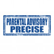 Stock Vector: Parental Advisory-stamp