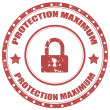 Protection Maximum-stamp — Stock Vector