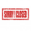 Sorry!Closed — Stock Vector