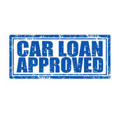 Car Loan Approved-stamp — Stock Vector