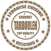 Lebanese Cuisine-stamp — Stock Vector