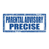 Parental Advisory-stamp — Stock Vector