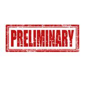 Preliminary-stamp — Stock Vector