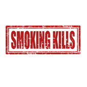 Smoking Kills-stamp — Stock Vector