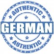 Authentic German — Stock Vector