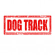 Dog Track-stamp — Stock Vector #37350333