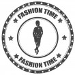 Fashion Time-stamp — Stock Vector