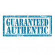 Stock Vector: Guaranteed Authentic-stamp