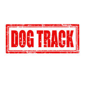 Dog Track-stamp — Vector de stock