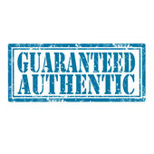 Guaranteed Authentic-stamp — Stock Vector