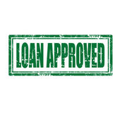 Loan Approved-stamp — Stock Vector