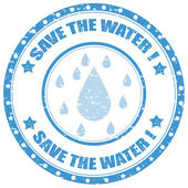 Save The Water-stamp — Stock Vector