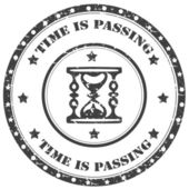 Time Is Passing-stamp — Wektor stockowy