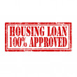 Stock Vector: Housing Loan-stamp