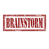 Brainstorm-stamp — Stock Vector