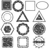 Conjunto de selos — Vetorial Stock