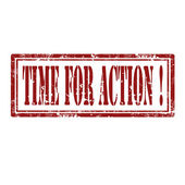 Time For Action-stamp — Vector de stock