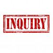 Stock Vector: Inquiry-stamp