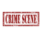 Crime Scene-stamp — Stock Vector