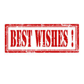 Best Wishes-stamp — Vector de stock