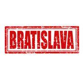 Bratislava-stamp — Stock Vector