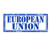 European Union-stamp — Vettoriale Stock