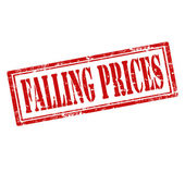 Falling Prices-stamp — Stock Vector