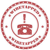 Wiretapped-stamp — Stock Vector