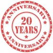 Stock Vector: Anniversary 20 Years-stamp