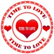Time To Love — Stock Vector