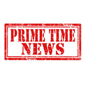 Prime Time News-stamp — Stock Vector