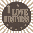 Stock Vector: I love Business