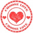 Choose Love-stamp — Stock Vector