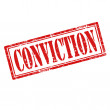 Stock Vector: Conviction-stamp