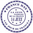France Day-stamp — Stock Vector