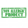 Stock Vector: Non Allergic Product