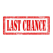 Last Chance-stamp — Stock Vector