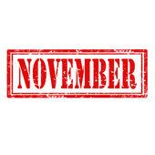 November-stamp — Stock Vector